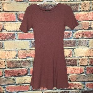 Forever 21 Ribbed Rust Thermal Dress S Small